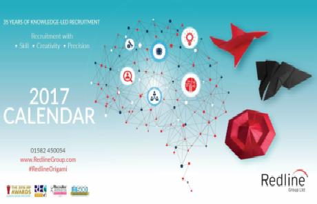Redline Origami Calendar 2017